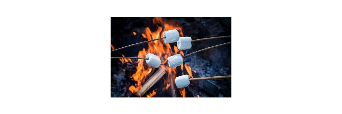 Marshmallows im Freien Grillen - Eine tolle Idee für Ihre Feuerschale - Marshmallows im Freien Grillen