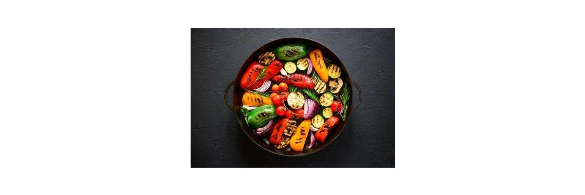 Gemüse grillen mit einer Feuerschale - Gemüse grillen mit einer Feuerschale